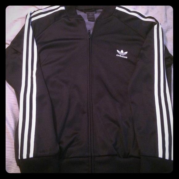 Adidas chaquetas y abrigos blanco y negro chaqueta poshmark